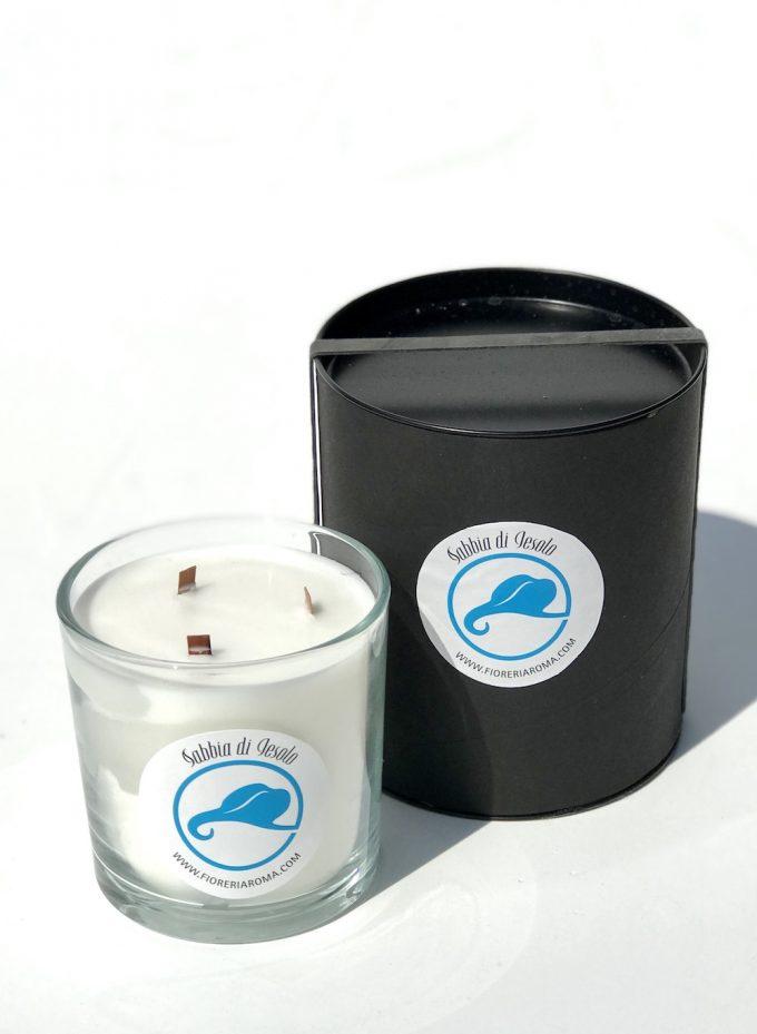 candela profumata sabbia di jesolo