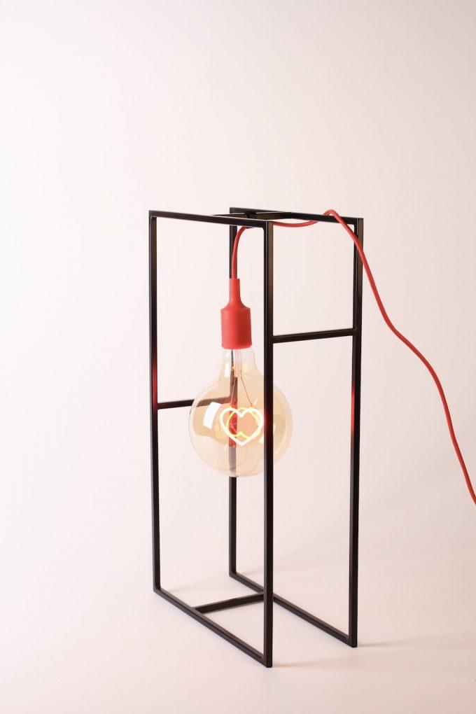 lampada vintage bulb heart